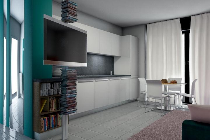 interno 23 progetto render